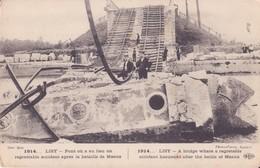CPA - 1914. LISY - Pont Où Il Y A Eu Un Regrettable Accident Après La Bataille De MEAUX - Otros Municipios