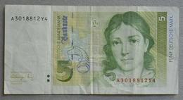 5 Marchi 1991 - 5 Deutsche Mark