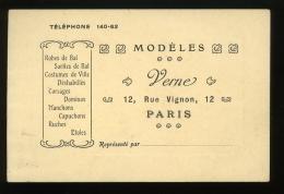 Paris Carte De Visite Modèles Verne Rue Vignon 8x12cm - Visiting Cards