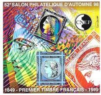 CNEP 52e Salon Philatelique D' Automne 98 - 1849 - Premier Timbre Français - 1999 - CNEP