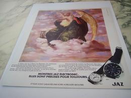 ANCIENNE PUBLICITE LE TEMPS A TROUVE SA MONTRE JAZ 1975 - Joyas & Relojería