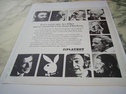 ANCIENNE PUBLICITE IL N Y A PAS QUE LES FILLES PLAYBOY 1975 - Other
