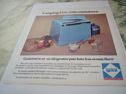 ANCIENNE  PUBLICITE VOUS CONNAISSEZ CAMPING GAZ  1975 - Other