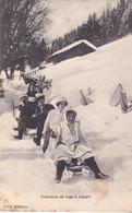 BAC19- LEYSIN  EN SUISSE CANTON DE VAUD UN CONCOURS DE LUGE - VD Vaud
