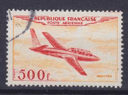 France 1954 Mi. 989   500 Fr. Flugzeug Aeroplane Fouga 'Magister' Düsen-Schulungs-flugzeug - Gebraucht