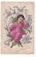 IMAGE RELIGIEUSE DENTELLE   CANIVET OBEISSONS D'ABORD A JESUS     EDITEUR BOUASSE 999 - Andachtsbilder
