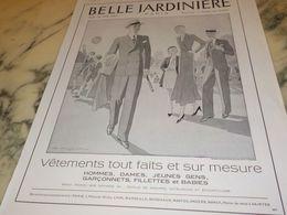 ANCIENNE PUBLICITE MAGASIN BELLE JARDINIERE SUR MESURE 1933 - Publicités