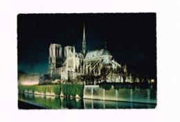 Notre-Dame Illuminée.La Seine.Expédié à Romilly-sur-SEine (Aube) - Notre Dame De Paris