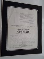 DB Theodoor Constant CORNELIS ( Marie Goossens ) Antwerpen 16 Juli 1884 > Zelzate 12 Sept 1951 ( Zie Photo ) ! - Décès