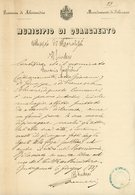ITALIA 1887 COMUNE DI QUARGNENTO PROVINCIA DI ALESSANDRA  ATTESTO DI MORALITA - 1878-00 Humbert I