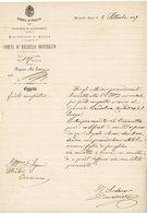 ITALIA 1887 COMUNE DI MIRABELLO MONFERRATO Riposta Alla Lettera ( PROVINCIA DI CASALE ) - 1878-00 Humbert I