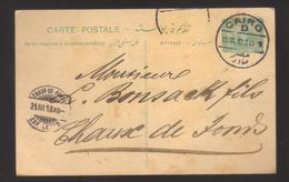 8601- Egypt, Post Card Postal Stationery To Chaux De Fonds, Switzerland – 1910 - - 1866-1914 Khedivate Of Egypt