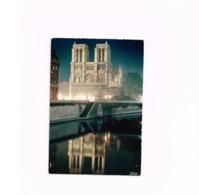 Reflet Dans La Seine Et Notre-Dame Illuminée..Expédié à Bonn (Allemagne) - Notre Dame De Paris