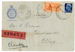 ITALIE ENV 1936 ROMA FERROVIA LETTRE EXPRES => OLANDA HOLANDE - 1900-44 Victor Emmanuel III