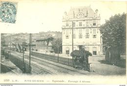 CPA (42) RIVE-DE-GIER - EGARANDE- LE PASSAGE A NIVEAU - Bb-850 - Rive De Gier