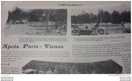 1902 AUTOMOBILE - APRÉS PARIS VIENNE - L'ECURIE RENAULT - GIRARDOT NOGENT SUR SEINE - Giornali