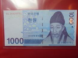COREE(SUD) 1000 WON 2007 PEU CIRCULER  (B.2) - Korea, Zuid