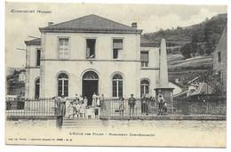 88-CORNIMONT-L'Ecole Des Filles - Monument Commémoratif...1915  Animé - Cornimont