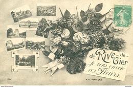 CPA (42)      RIVE-DE-GIER - JE VOUS ENVOIE MES FLEURS  - Bb-854 - Rive De Gier