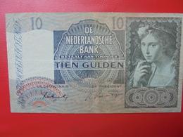 PAYS-BAS 10 GULDEN 1941 CIRCULER  (B.2) - [2] 1815-… : Kingdom Of The Netherlands