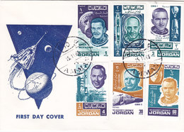 Jordan 1965,Atronautes IMPERFORATED On Official FDC- Scarce - Reduced Price- SKRILL PAYMENT ONLY - Jordan