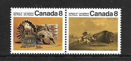 CANADA 1972 INDIENS DES PLAINES  YVERT N°481/82 NEUF MNH** - 1952-.... Règne D'Elizabeth II