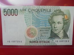 ITALIE 5000 LIRE 1985 CIRCULER  (B.2) - [ 2] 1946-… : Repubblica