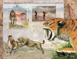 Guinea Bissau 2009 Prehistoric Man, Animals & Cave Paintings - Guinea-Bissau