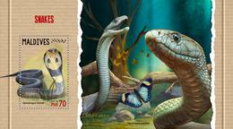 MALDIVES 2018 - Snakes, Butterflies - YT CV=13 €, BF1127 - Schmetterlinge