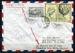 GAX-49 GRECIA 1950 PRIMI VOLI Aerogramma Da Atene Spedito Il 5.7.1950 In Occasione Del Primo Volo LAI Roma-New York - Grecia