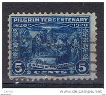 U.S.A.:  1920  MAYFLOWER  -  5 C. BLU  US. -  YV/TELL. 227 - United States