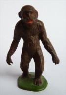 Figurine STARLUX  - ANIMAUX ANIMAL - GORILLE ZOO Pas Clairet Elastolin Ougen Jim Cyrnos - Starlux