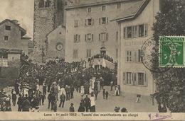 Lens 1 Er Aout 1912 Toasts Des Manifestants Du Clergé  Envoi De Montana - VS Valais