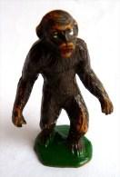 Figurine STARLUX  1953 - ANIMAUX - GORILLE 715 ZOO Pas Clairet Elastolin Ougen Jim Cyrnos - Starlux