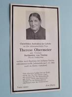 Therese OBERMEIER Bartlmutter Von Tinning > 2.11.1961 > 86 Jahren Alt ( Zie / Voir Photo ) Deutschland ! - Décès