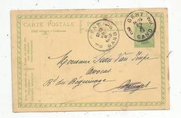 Entier Postal,  BELGIQUE ,  1919, GENT ,  GAND ,  1 G ,  2 C - Enteros Postales