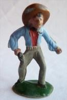 Figurine CYRNOS Far West MEXICAIN MEX 10 Dégainant (2) Bleu 50's Pas Starlux Clairet - Starlux