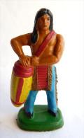 FIGURINE CLAIRET - INDIEN 1 Ind3  14 Joueur De Tam Tam Incomplet (2) - Militaires