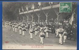NANCY    Défilé  Concours International De Gymnastique  22 Et 23 Juin 1913       Animées  écrite En 1913 - Nancy