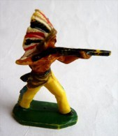 Figurine CYRNOS INDIEN TOR01 TIREUR FUSIL DEBOUT 1 Fin 60's Pas Starlux Clairet - Starlux