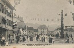 Bulle 1907 Fete Cantonale De Gymnastique Fontaine De La Rue Du Tir  CMB 444 Morel - FR Freiburg