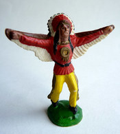 FIGURINE CLAIRET - CHEF INDIEN 1 Ind1 25 Rouge Aigle (2) - Militaires