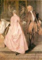 Art - Peinture - Jean Antoine Watteau - L'enseigne Dit L'enseigne De Gersaint - Détail Du Couple - Voir Scans Recto-Vers - Paintings