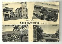 """4073 """"SALUTI DA MONZUNO M. 630 S.m.""""4 VEDUTE   CART. POST. ORIG. SPED.1954 - Saluti Da.../ Gruss Aus..."""