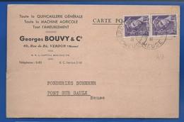 Carte à Entête D'Entreprise  Quincaillerie Georges BOUVY   60 Rue De Rû   écrite En 1941 - Verdun