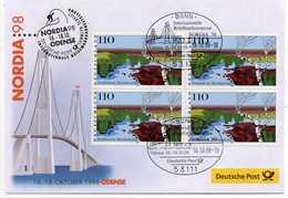 - FDC EXPO NORDIA 98 (Allemagne) - Bloc 4 X 110 P. Norddeutsche Moorlandschaft - - Storia Postale