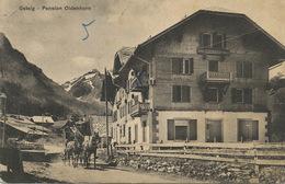 Gsteig Pension Oldenhorn Chalet  Attelage Diligence  Pli Coin Inf . Gauche Edit Von Siebenthal - BE Berne