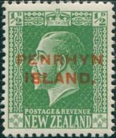 Cook Islands Penrhyn 1917 SG28 ½d Green KGV MNG - Penrhyn