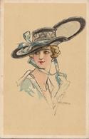 Illustrateur - E. CENNI - Femme Au Chapeau - Illustrators & Photographers