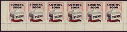 Strip Of Six Unused Plume Petrol Advertising Labels - Other